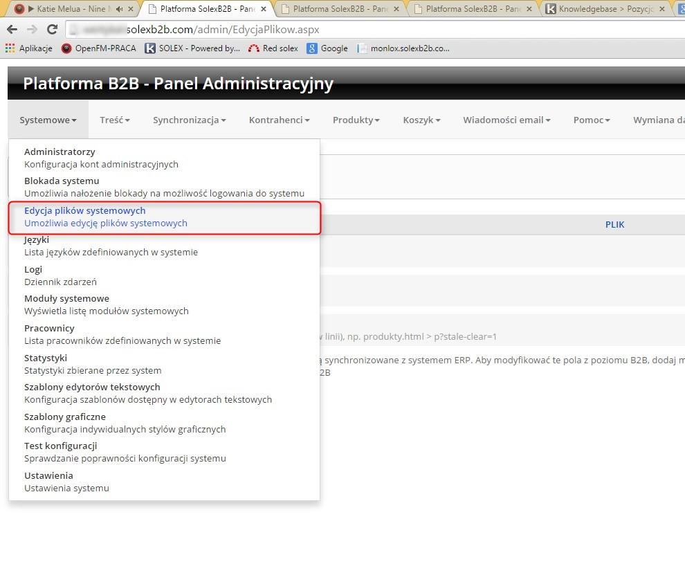 Pozycjonowanie na platformie solex B2B - Powered by Kayako Help Desk